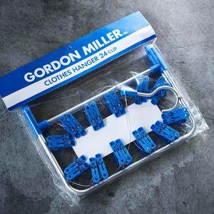 GORDON MILLER CLOTHES HANGER 24CLIP ブルー