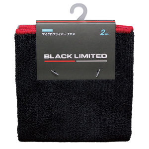AQ. BLACK LIMITED マイクロファイバークロス Sサイズ 2枚組 ブラック