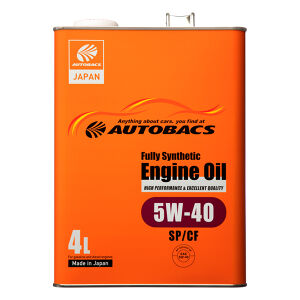 AUTOBACS エンジンオイル 5W40/SP/CF/4L 全合成油
