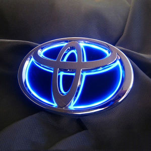 Junack LEDトランスエンブレム ブルー/LTE-T4