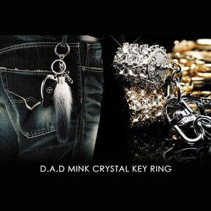 GARSON D.A.D ミンク クリスタル キーリング シルバー/ホワイト ブラックダイヤ