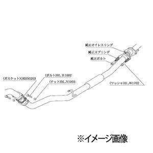柿本改 センターパイプ NCP360 ニッサン マーチ