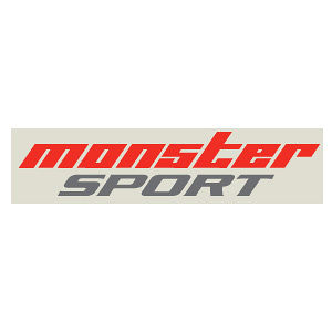 monster SPORT NEWmonster SPORTステッカー レッド×ガンメタカッティングステッカー 450mm 896111-0000M