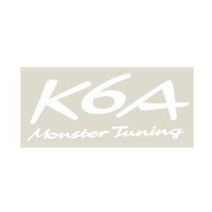 monster SPORT K6A Monster Tuning ステッカー ホワイト(大) 896120-0000M