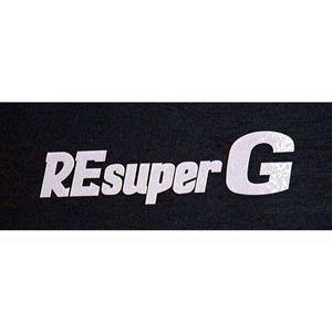 RE雨宮 SuperG抜きステッカー シルバー 14cm G0S038090S043 1枚