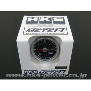 HKS ダイレクトブライトメーター ブースト計 60パイ ブラックパネル/ホワイトスケール 44004-AK002