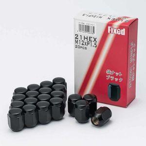 FIXED 袋タイプテーパー形状 M12×1.5 20個入り ブラック