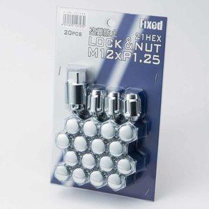 FIXED 袋ロック&ナット M12×1.25 20個入り メッキ