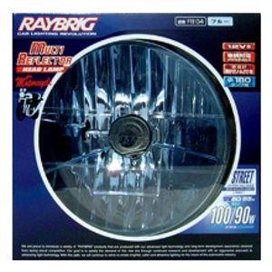 RAYBRIG 2輪マルチリフレクター ヘッドランプ 丸 ブルー FB04