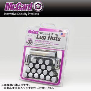 マックガード スプラインドライブラグナット 袋タイプテーパー形状 クローム MCG65005 M12×1.25 16個セット ニッサン・スバル・スズキ