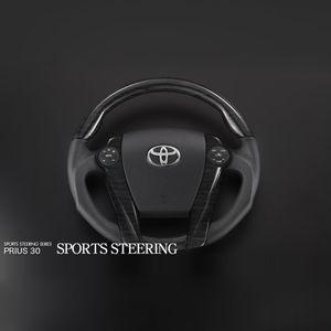 Silk Blaze スポーツステアリング ガングリップ 黒木目 スイッチなし 30/40系プリウス SB-ST-163