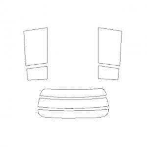 B011701 車種別カットフィルム ハードコーティング/スーパーブラック/トヨタ bB