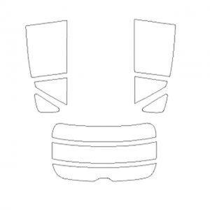 B011661 車種別カットフィルム ハードコーティング/スーパーブラック/トヨタ ハリアー