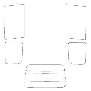B012284 車種別カットフィルム 赤外線カット/スーパーブラック/トヨタ ヴォクシー