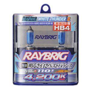 RAYBRIG ハロゲンバルブ ホワイトサンダーR RA58 4200K HB4 55W 2個入