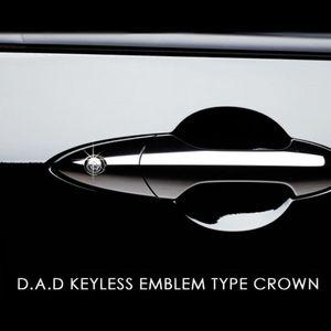 GARSON D.A.D キーレスエンブレム タイプ クラウン キーホールタイプB シルバー/クリスタル