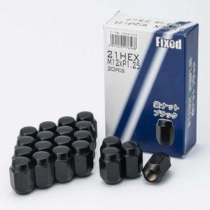 FIXED 21HEX 袋ナット 12×1.25 20個入り ニューブラック