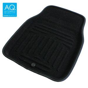 AQ 立体形状のインテリア用マット 軽自動車用カーマット ブラック フロント用