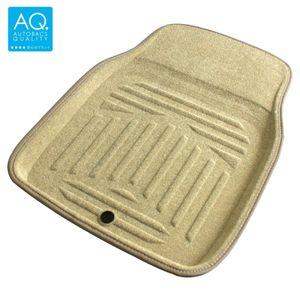 AQ 立体形状のインテリア用マット 軽自動車用カーマット ベージュ フロント用