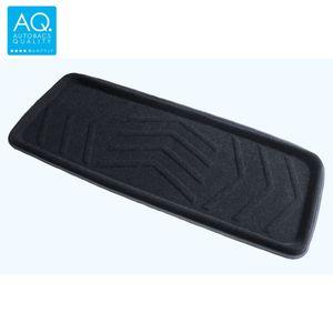 AQ 立体形状のインテリア用マット ロング(100) 軽自動車用カーマット ブラック リア用ロング