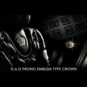 GARSON D.A.D プロング エンブレム タイプ クラウン シルバー/ブラックダイヤ