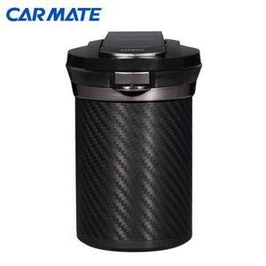 愛煙缶Premium カーボン調ブラック ブルーLED ソーラータイプ DZ186