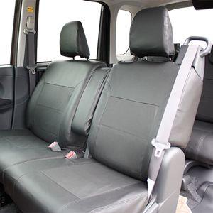 タント/タントカスタム(LA600系)専用シートカバー レザー&パンチング LE-410D ブラック