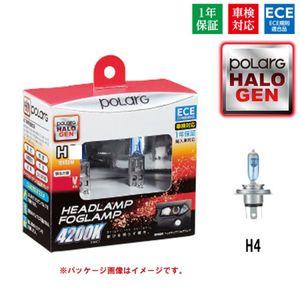 POLARG ハロゲンバルブ ヘッドランプ H4/ホワイト4200K/P0894W