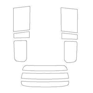 B011875 車種別カットフィルム 赤外線カット/ライトスモーク/トヨタ プロボックス