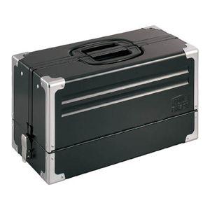 TONE ツールケース(メタル) V形3段式 マットブラック BX331BK