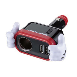 WD-323 イルミソケットD1 USB 2.4A ミッキー