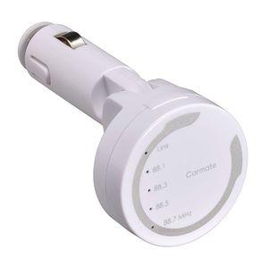 FMトランスミッター Bluetooth NFC シルバー SA104