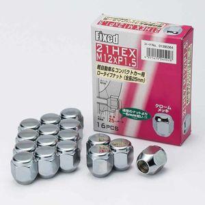 FIXED 21HEX ローナット 25mm 12×1.5 16個入り