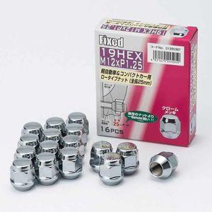 FIXED 19HEX ローナット 25mm 12×1.25 16個入り