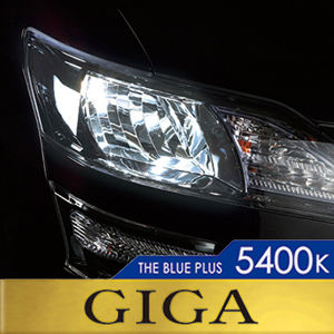 GIGA ザ・ブループラス BD728N 5400K 110W H7 ハロゲンバルブ 2個入