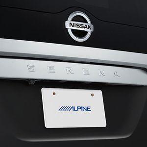 ALPINE HCE-C1000D-SE HDRバックビューカメラパッケージ ブラック セレナ専用