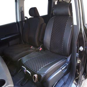 チェックメッシュシートカバー DE-1194 ブラック/ブラック フロント用1枚