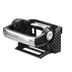ダンパー内蔵ドリンクホルダー カーボン調ブラック/シルバー DZ434