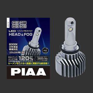 【数量限定特価】LEDヘッド&フォグバルブ ファンレスヒートシンクシリーズ H8/H9/H11/H16 6000K LEH112
