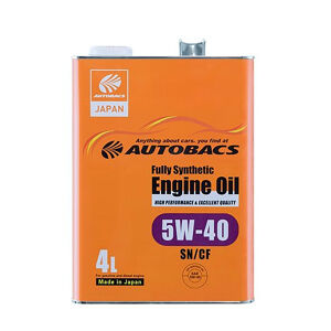 Autobacs エンジンオイル/5W40/SN/CF/4L 全合成油