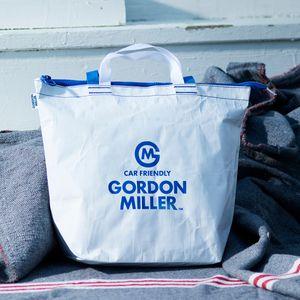 お一人様5点まで!GORDON MILLER ファスナー付フリートートバッグ M ホワイト