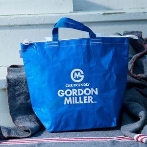 お一人様5点まで!GORDON MILLER ファスナー付フリートートバッグ M ブルー