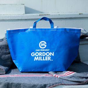 お一人様5点まで!GORDON MILLER ファスナー付フリートートバッグ L ブルー