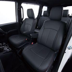 Clazzio 車種専用シートカバー ABオリジナル スタイリッシュタイプ EH-0323 N-BOX/カスタム   ブラック×ワインステッチ