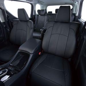Clazzio 車種専用シートカバー ABオリジナル 本革パンチングタイプ ET-1581 エスクァイア/ノア/ヴォクシ-ブラック×ブラックステッチ