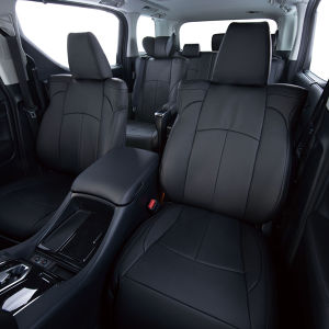 Clazzio 車種専用シートカバー ABオリジナル 本革パンチングタイプ EN-5293 キャラバン/キャラバン(福祉車両)ブラック×ブラックステッチ