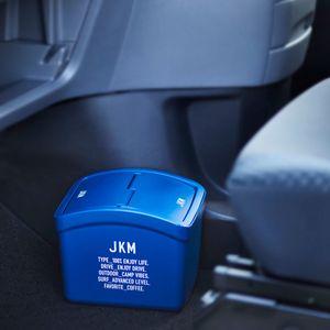 JKM 重り付きゴミ箱 蓋付き ネイビー