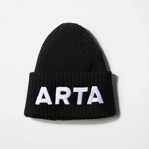 NEWERA ARTA ニットキャップ ブラック×ホワイト