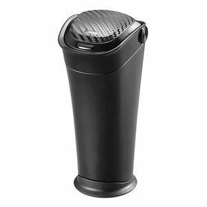 ゴミ箱 ボトル型 BLACK EDITION DZ527 カーボン調