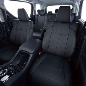 Clazzio 車種専用シートカバー ABオリジナル 本革パンチングタイプ  ES-6304 スペーシアギア ブラック×ブラックステッチ